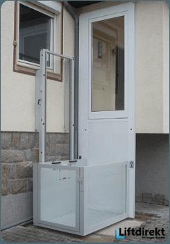 Senkrecht Plattformlift offen ohne schacht